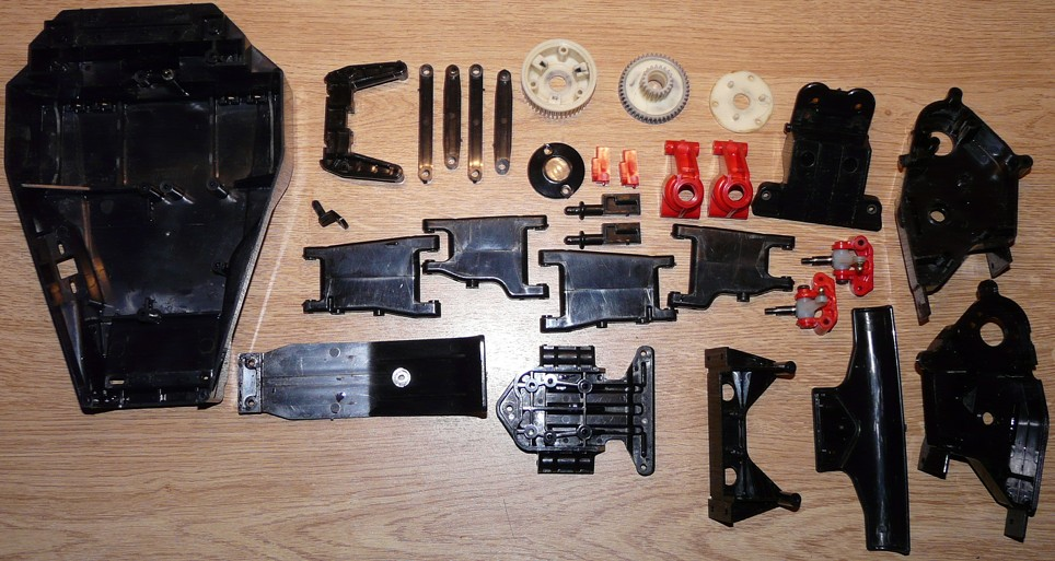 Tamiya 58093 Bear Hawk Exploded view