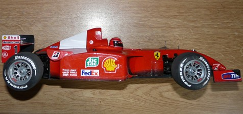 Tamiya 58288 Ferrari F2001 as it arrived