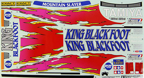 Tamiya 9495268 King Blackfoot stickers