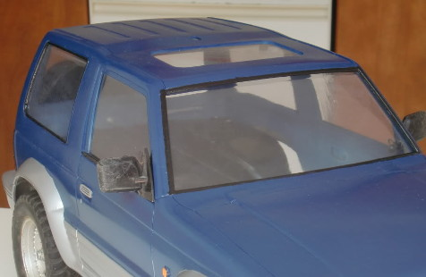Tamiya 58132 Mitsubishi Pajero Metaltop Wide lexan windows