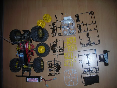 Tamiya 58060 Monster Beetle Chassis parts