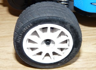 Tamiya M-chassis wheel on TamTech chassis