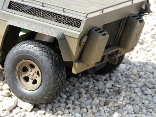 Tamiya 58004 - XR311 FMC Combat Support Vehicle Motor boot detail