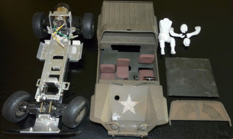 Tamiya 58004 - XR311 FMC Combat Support Vehicle Parts Overview